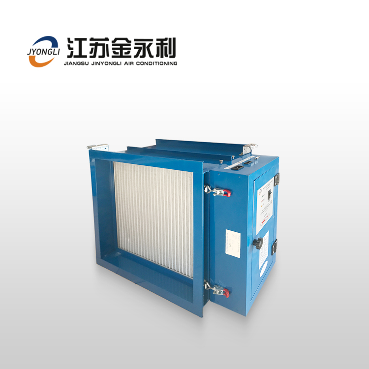 中央空调通风管道式静电空气净化消毒机